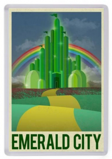 Emerald City Fridge Magnet. The Wizard of Oz Travel Poster